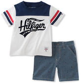 Tommy Hilfiger Sport Tee and Logo Chambray Shorts Set