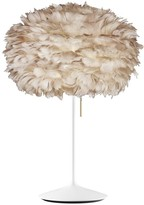 EOS Umage UMAGE - Medium Light Brown Feather With White Stand Table Lamp - Brown/White