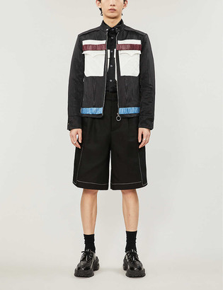 Nicomede Relaxed-fit contrast-panel satin-blend jacket