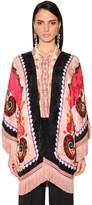 Etro Fringed & Printed Envers Satin Kimono