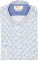 Original Penguin Sky Blue Olive Geo Print Dress Shirt