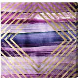 Oliver Gal Rombo Numero 4 Amethyst by Canvas)