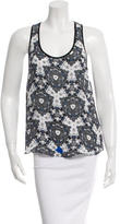 A.L.C. Abstract Printed Sleeveless Silk Top