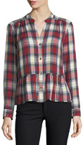 Splendid Edgware Plaid Button-Front Long-Sleeve Shirt