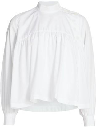 Noir Kei Ninomiya Babydoll Cotton Shirt