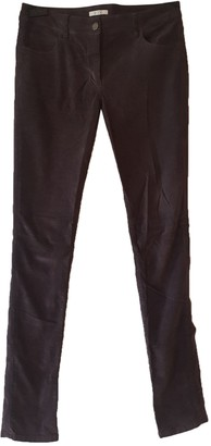 By Zoé Burgundy Cotton Trousers for Women