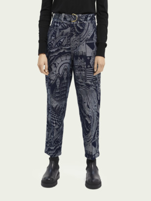 Scotch & Soda High-rise belted denim boyfriend chino | Women