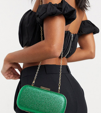 True Decadence clutch bag in emerald green crystal Exclusive at ASOS
