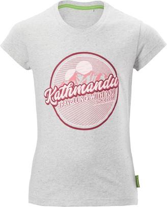 Kathmandu Retro Badge Youth Girls Short Sleeve T-Shirt