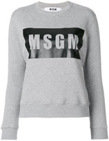 MSGM logo print sweater - women - Cotton/Viscose - XS