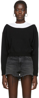 Alexander Wang Black Cropped Bi-Layer Sweater