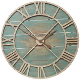 Pier 1 Imports Oversize Teal Rustic Wall Clock