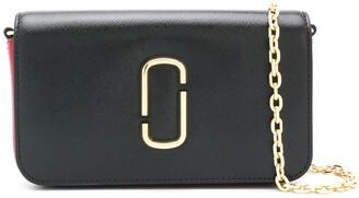 Marc Jacobs Logo Plaque Leather Crossbody Bag