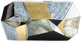 Rafe Vivienne Faceted Shell Minaudiere Clutch Bag
