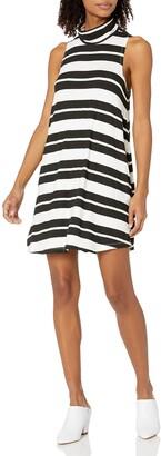 RVCA Junior's Alias Turtleneck Stripe Swing Dress