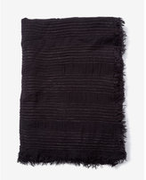 Express Textured Fringe Trim Scarf