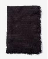 Express textured fringe trim scarf