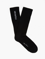 Rick Owens Black Cyclops Knitted Socks
