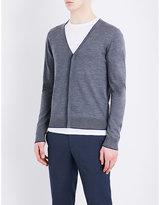 Sandro V-neck Merino Wool Cardigan