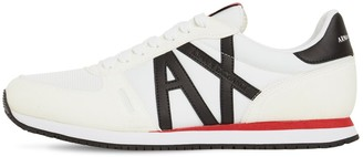 Armani Exchange Logo Tech Lace-Up Sneakers