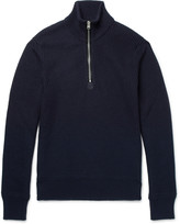 Tom Ford - Ribbed Wool And Cashmere-blend Half-zip Sweater