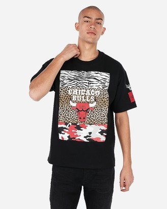 Express Chicago Bulls Nba Oversized Graphic T-Shirt