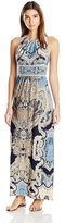 London Times T2772M Halter Keyhole Print Dress