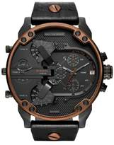 Diesel R) Mr. Daddy 2.0 Chronograph Leather Strap Watch, 57mm
