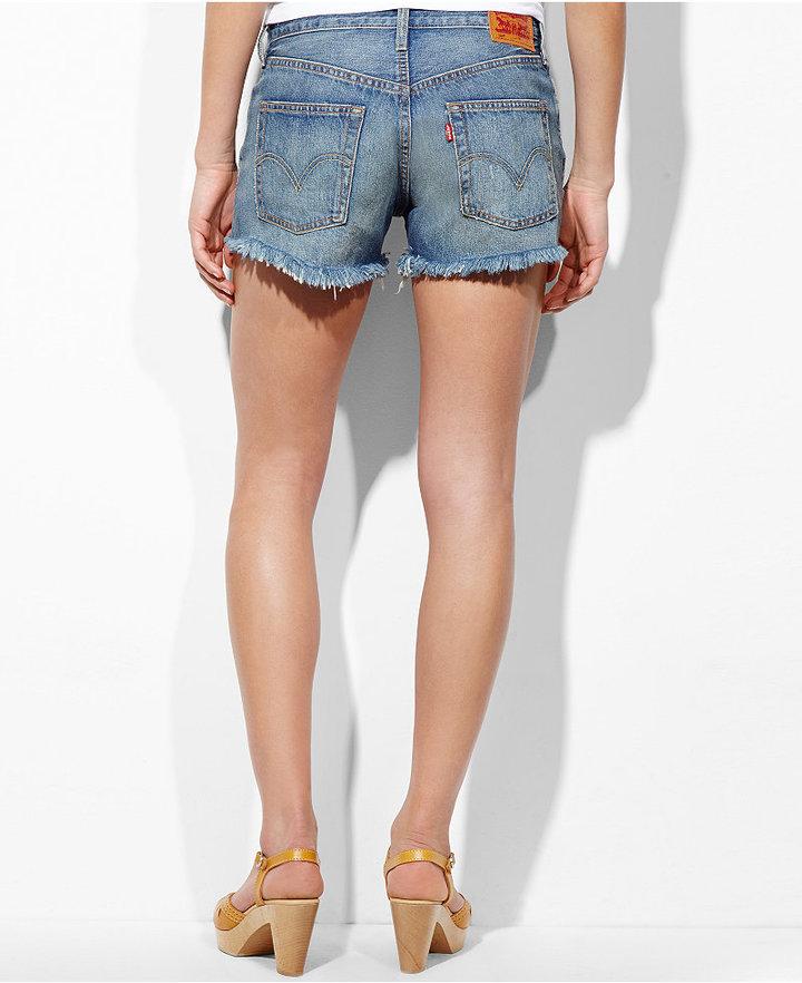 Levi's Shorts, 501 Light Wash Cutoff