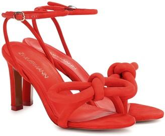 Zimmermann Sculptural Bow suede sandals