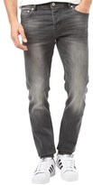 Money Mens Slim Tapered Jeans Light Grey Denim