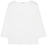 Gerard Darel Terry Lace Detail Linen T-Shirt