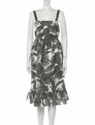 Co Printed Midi Length Dress w/ Tags Grey