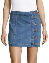 Free People Button Wrap Mini Skirt