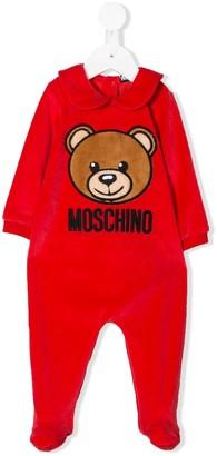 MOSCHINO BAMBINO Teddybear Embroidered Logo Pyjamas