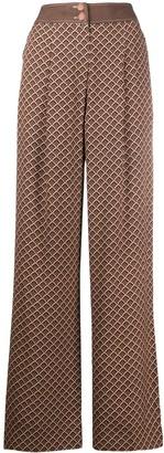 Temperley London Cecilia wide leg trousers