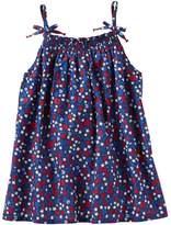 Osh Kosh Girls 4-8 Smocked Flower & Star Print Tank Top