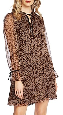 CeCe Leopard Print Keyhole Dress