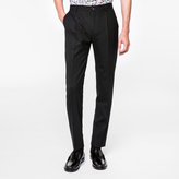 Paul Smith Men's Slim-Fit Black Wool Pleated Trousers