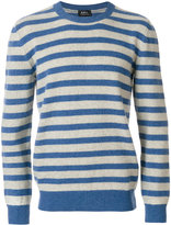 A.P.C. crew neck striped jumper