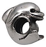 Zable Sterling Silver Dolphin Bead