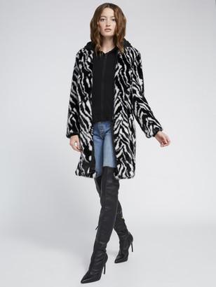 Alice + Olivia Kylie Zebra Print Coat