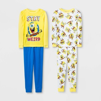 SpongeBob Squarepants Boys' pc Pajama Set - Yellow/Blue/White