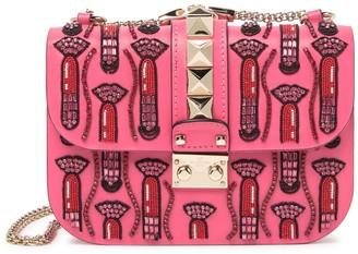 Valentino Lipstick Leather Shoulder Bag