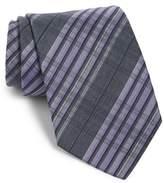 John Varvatos Plaid Silk Tie