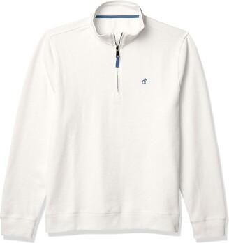 Caribbean Joe Men's 1/4 Zip Cotton Sweater
