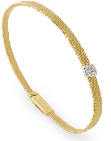 Marco Bicego Masai 18K Yellow Gold Coil Bracelet with Diamond Station