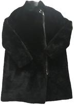 Maje Fall Winter 2018 Black Shearling Coats