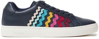 Paul Smith Lapin Rickrack-trimmed Leather Sneakers