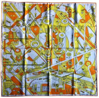 Hermes Carre H 65 Multicolour Cotton Scarves & pocket squares